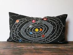 Galaxy pillow cover atmosphere hand embroidered by ChrisCroch, $97.00 maybe a cool diy? save like 100 dollars
