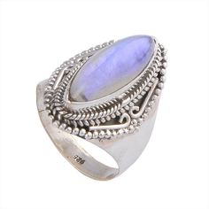 RAINBOW MOONSTONE EXCLUSIVE 925 STERLING SILVER 5.16g RING JEWELLERY DJR-0055 #RING