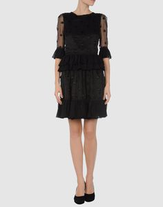 REDValentino  Short dressYOOX Collection: Spring-Summer  Composition: Silk, Cotton  Details: crew neckline, pleated detailing, lined interior, rear closure, zip closure, voil  So Very Cute!