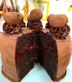 Bolo Trufa de Chocolate para se deliciar! #cake #trufa #chocolate #teamcook #cacau