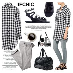 """""""Gingham style by ifchic"""" by ifchic ❤ liked on Polyvore featuring Bobbi Brown Cosmetics"""