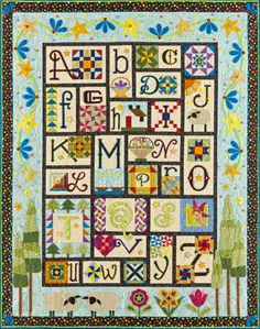 Alphabet quilt by Janet Stone, posted by Sue Garman