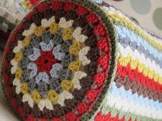 crochet bolster cushion cover