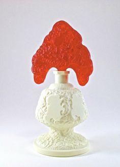 'c1930 Hoffmann Czech White Crystal Perfume Bottle : Lot 102
