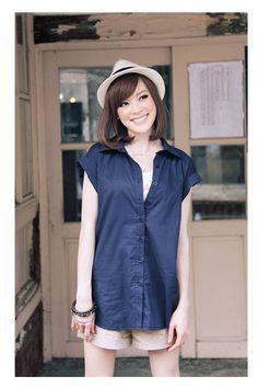 (TOLLS0710) Casual Blue Shirt