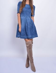 Rifľové šaty 2995 Shirt Dress, Casual, Shirts, Dresses, Fashion, Vestidos, Moda, Shirtdress, Fashion Styles