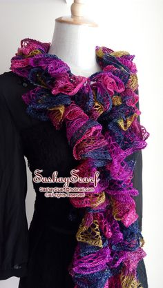 29.00$  Buy here - http://vinze.justgood.pw/vig/item.php?t=h79ans54135 - Violet, Hop Pink,Navy, Purple, Kiwi, Mixed color, Crochet Scarf, Crochet Ruffle Scarf, Crochet Scarf, Ready to Ship, Ruffle Scarf, Woman Crochet Scarf, Fashion Scarf, Handmade Scarf, Frilly Scarf, Sequins Scarf, Sashay Scarf, Gift for her, Birthday Gift, 29.00$
