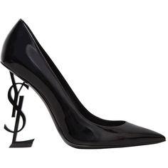 Saint Laurent Women 105mm Tribute Leather Sandals (12.135 ARS) ❤ liked on Polyvore featuring shoes, sandals, heels, pumps, ysl, black, black platform sandals, high heel shoes, high heel sandals and platform heel sandals