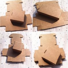 (1 Lot =20 Pcs) 21 Different Size DIY Scrapbooking Paper Kraft Gift Boxes Wedding Candy Decoration packaging Box
