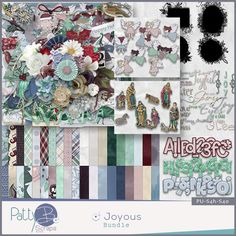 """Joyous Bundle The Joyous Collection is a fun and lovely holiday assemblage.  Joyous; feeling, causing or showing great happiness.  """"The best of all gifts around any Christmas tree: the presence of a happy family all wrapped up in each other."""" ~ Burton Hillis"""