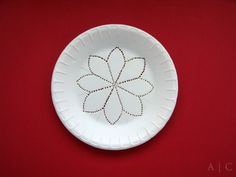 Here is a super easy way to make your own rangoli stencils!     All you need is...     Styrofoam plate  A thick needle / nail   ...