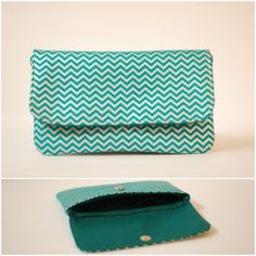 $22 teal and metallic silver date night clutch with teal linen interior {www.facebook.com/babymamasewshop}