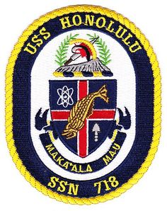 USS Honolulu SSN-718 Nuclear Fast Submarine Patch