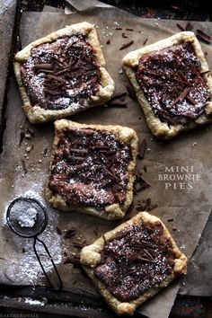 Mini Brownie Pies