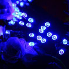 CroLED Wasserfest Solar LED Lichterkette , 12M 100 LEDs Solarlichterkette , Blau Licht Lampe , IP44 Solarleuchte , Außenleuchte für Garten Weihnachten: Amazon.de: Beleuchtung