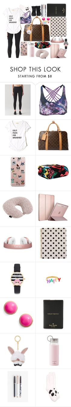 """""""Disney Departure"""" by elliskhanby on Polyvore featuring Onzie, Hollister Co., Louis Vuitton, Vera Bradley, HAY, Kate Spade, U Brands, New Directions and UGG"""
