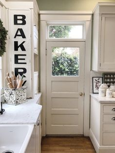 Holiday Housewalk Tour kitchen door transom Decorating a home for the holidays is one of my most favorite things to do. So you can imagine how excited I was to be asked to be a part of the Holiday Housewalk Kitchen Doors, Home Decor Kitchen, Kitchen And Bath, Kitchen Furniture, Kitchen White, Kitchen Soffit, Decorating Kitchen, Kitchen Interior, Young House Love
