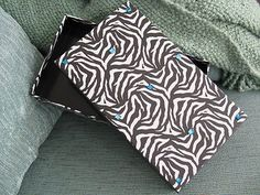 Stefi's Corner Stones & Gifts Shoppe--New Large Zebra Black White Animal Print Photo Storage Box w Blue Bling | eBay