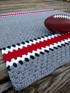 Ohio State Crochet Blanket -Crochet OSU Baby Afghan - Ohio State Buckeyes Helmet Inspired Crochet Baby Blanket