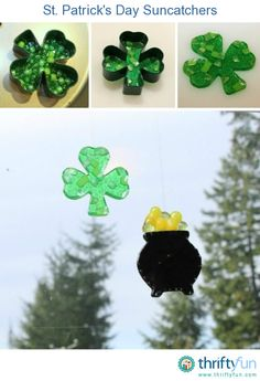 This guide is about St. Patrick's day suncatchers. A simple holiday craft to make and decorate your windows.