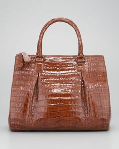 Crocodile Zip-Compartment Tote Bag by Nancy Gonzalez at Neiman Marcus.