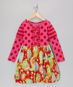Take a look at this Red & Pink Olivia Dress - Infant, Toddler & Girls by Mustard Pie on #zulily today!