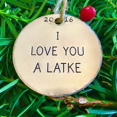 Fusioned Family 2-inch Aluminum Jewish Christmas Ornament I Love You a Latke Hanukkah Decoration >>> See this awesome image  : Handmade Gifts