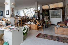 Gisèle d'Ailly van Waterschoot van der Gracht, Publisher and Artist, Studio, Photography: Jordi Huisman