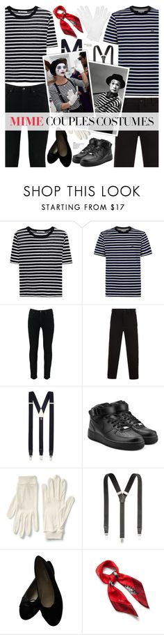 """Scary Cute: Couples Costumes - MIME"" by cly88 ❤ liked on Polyvore featuring T By Alexander Wang, Lacoste, Yohji Yamamoto, Albert Thurston, NIKE, Lands' End, Club Room, Chanel and Mulberry"