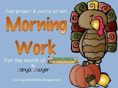Just Project and You're ALL set! {November Morning Work}