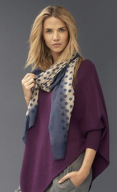 A stunning scarf that makes an outfit - every wardrobe needs one. Pair with a sweater as the days turn cool, and layer up when the frost sets in.