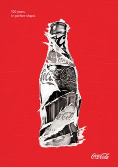Coca-Cola 100 years of the iconic contour bottle on Behance Coke Ad, Pepsi Cola, Always Coca Cola, India Images, Van Gogh Art, Image Icon, Pop Art, Collage Art, Graphic Design
