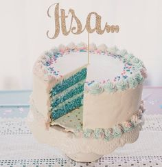 Baby's gender reveal – funny ideas for an original revelation – new best – Baby Shower Party Baby Reveal Cakes, Gender Reveal Cupcakes, Baby Gender Reveal Party, Gender Party, Baby Shower Favors, Idee Baby Shower, Baby Shower Cakes, Baby Boy Shower, Baby Showers