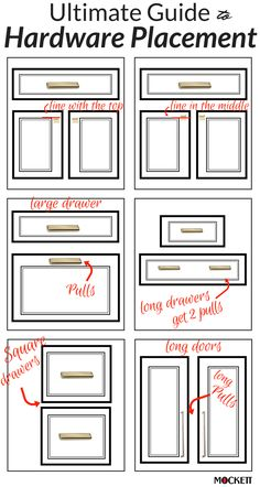 A General Rule Of Thumb With Cabinet Hardware Placement And Pairing When In Doubt Consider Specifying Pulls For Drawers S Doors