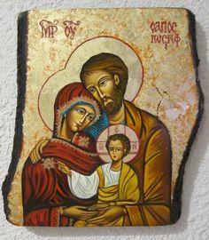 Ikona Święta Rodzina pisana BOŻE NARODZENIE (5783327154) - Allegro.pl - Więcej niż aukcje.