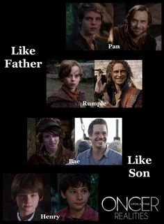 Except I have never felt that Rumple was like his father at all.