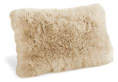 Sheepskin Stone Pillows - Ella Bed and Linear Bedroom - Bedroom - Room & Board