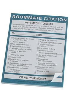 """Ladylike Laws: The Roommate Rules by Lauren Conrad - """"Whether you're sharing a dorm room, living in your first apartment with a friend, or splitting the rent with a stranger, there are ways to make living with others fun and easy... """" (Sorry, this Citation notepad is no longer available)"""