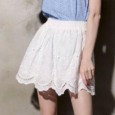 [Storets] Charlotte Eyelet Flare Skirt