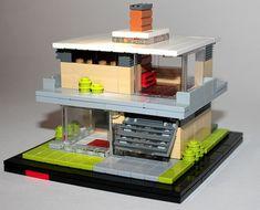 Casa dell'Auto Rossa: A LEGO® creation by J MacMillan : MOCpages.com Hama Beads Minecraft, Perler Beads, Table Lego, Lego Structures, Art Hama, Micro Lego, Lego System, Lego Mechs, Lego Modular