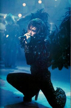 Gackt from his Malice Mizer days.  Always makes me think of 'The Crow'...