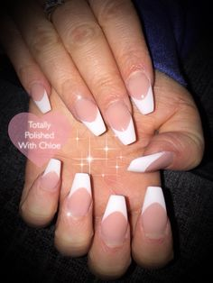French fully sculpted acrylic nails