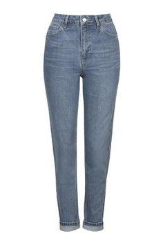 Blaue MOTO Mom Jeans