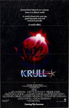 High Resolution / HD Movie Poster Image ( of for Krull Video Game Posters, Best Movie Posters, Film Posters, Movie Plot, We Movie, Liam Neeson, Ken Marshall, Lysette Anthony, The Chronicles Of Riddick