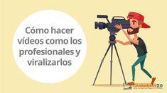 Cómo hacer vídeos como los profesionales y viralizarlos Youtube, Memes, Blog, Movie Posters, Header, How To Make, Creativity, Film Poster, Popcorn Posters