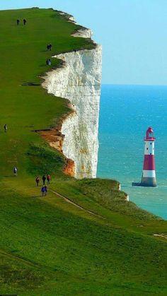 Beachy Head Lighthouse  Sussex, England UK
