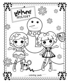 celebrate the season with this lalaloopsy hoilday coloring pack - Lalaloopsy Coloring Pages