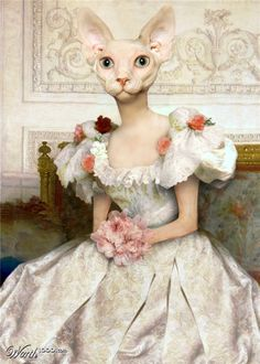 """M'LADY"" anthropomorphic cat art by pcysmith - Animal Renaissance 15 - Worth1000 Contests."