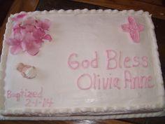 Baptism cake for baby girl