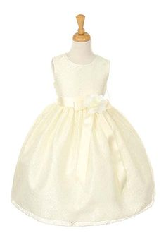 Ivory Lace Flower Girl Dress with Choice of Sash